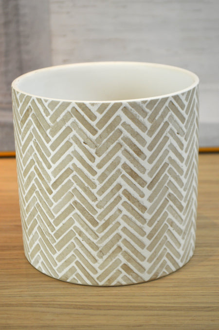 Herringbone Ceramic Small Platter