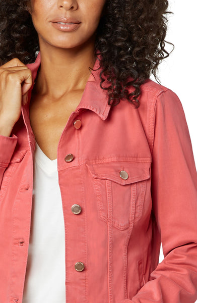 Liverpool Hot Coral Jean Jacket