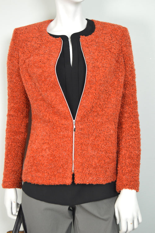 Orange Boucle Jacket