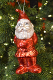 Red Glass Gnome Ornament