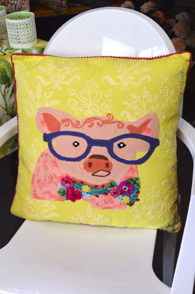 Pillow Pig with Glasses