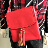 Red Leather Cross-body Bag