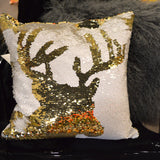 Sequin Deer Pillow