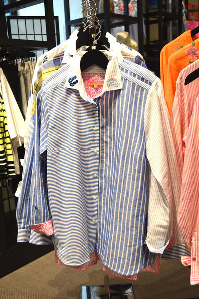 Vilagallo Dover Shirt Blue Stripes