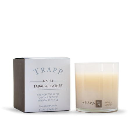 No. 74 Tabac & Leather Large Poured Candle