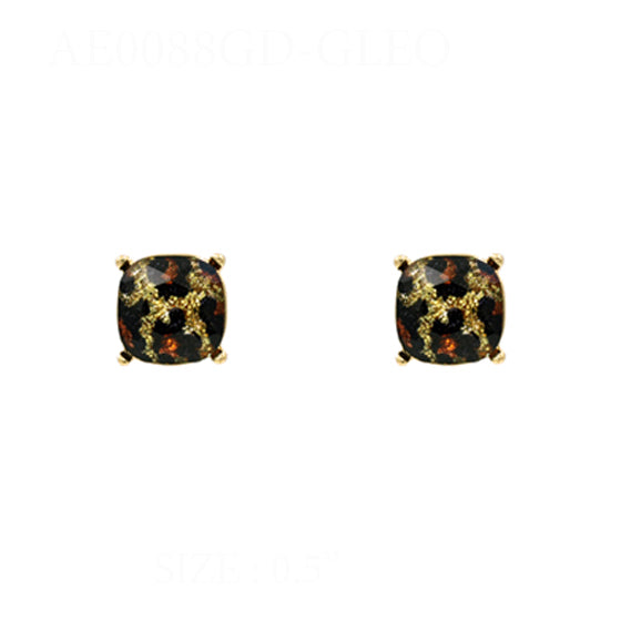 E8800 BLING BUTTON EARRINGS