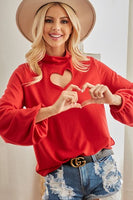 M012100 RED HEART TOP