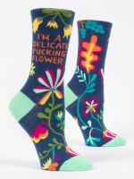 B01 SOCKS 468 DELICATE flower women's crew