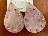 Earring Leatherish Teardrop