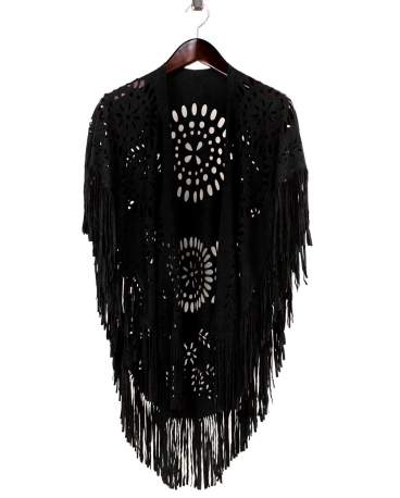 I04 LEATHER FRINGE WRAP FP60276
