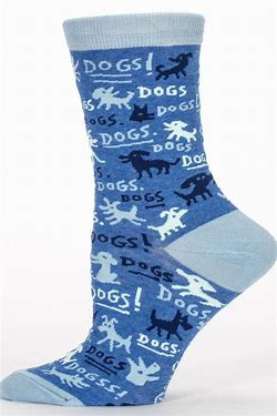 B01 SOCKS 464 DOGS women's crew