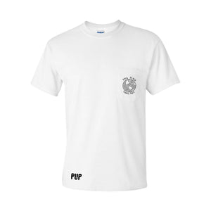 PUP THIS PLACE SUCKS ASS POCKET T-SHIRT WHITE