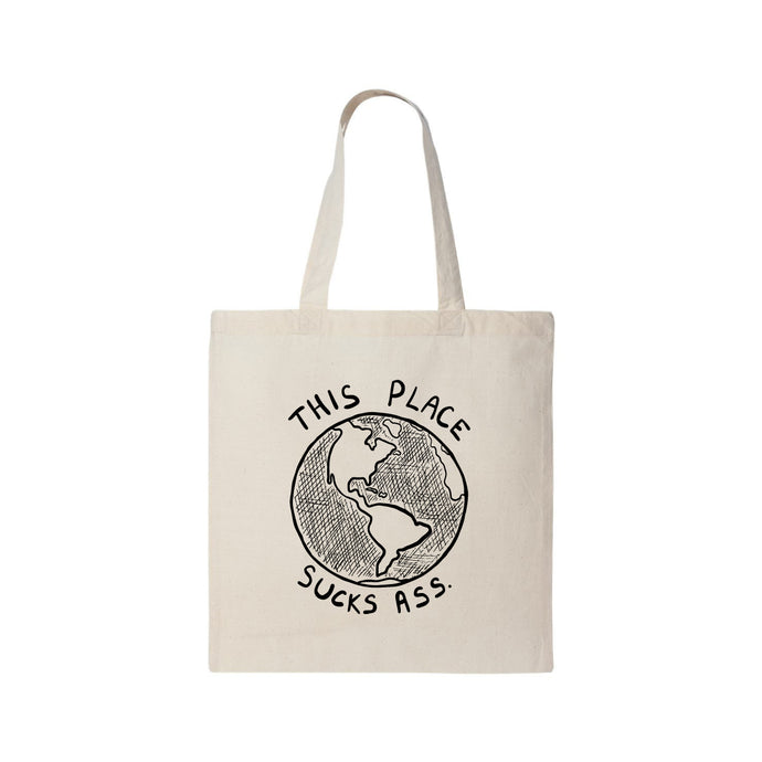 PUP THIS PLACE SUCKS ASS TOTE BAG