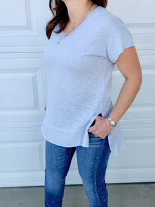 Soft, Long Light Blue Tee