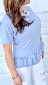 Ruffle Accent Tee