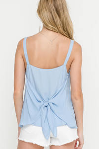 Sleeveless Square Neckline Tank Top