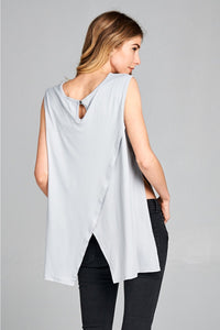 Sleeveless Jersey Cross Back Tank