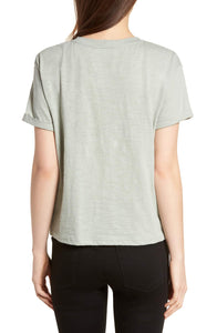 Tie Front Short Sleeve Top