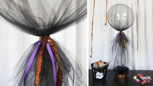 Easy DIY Centerpiece with Clear Balloons and Flowing Tulle