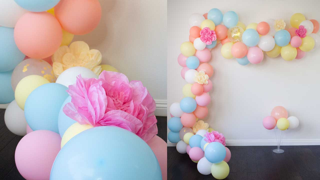 How To Create A Balloon Garland Arch Easy Diy Tutorial