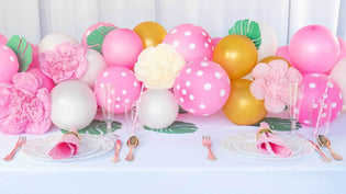 How To Make a Balloon Table Runner for your Party