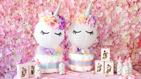 Baby Shower Unicorn Diaper Cake