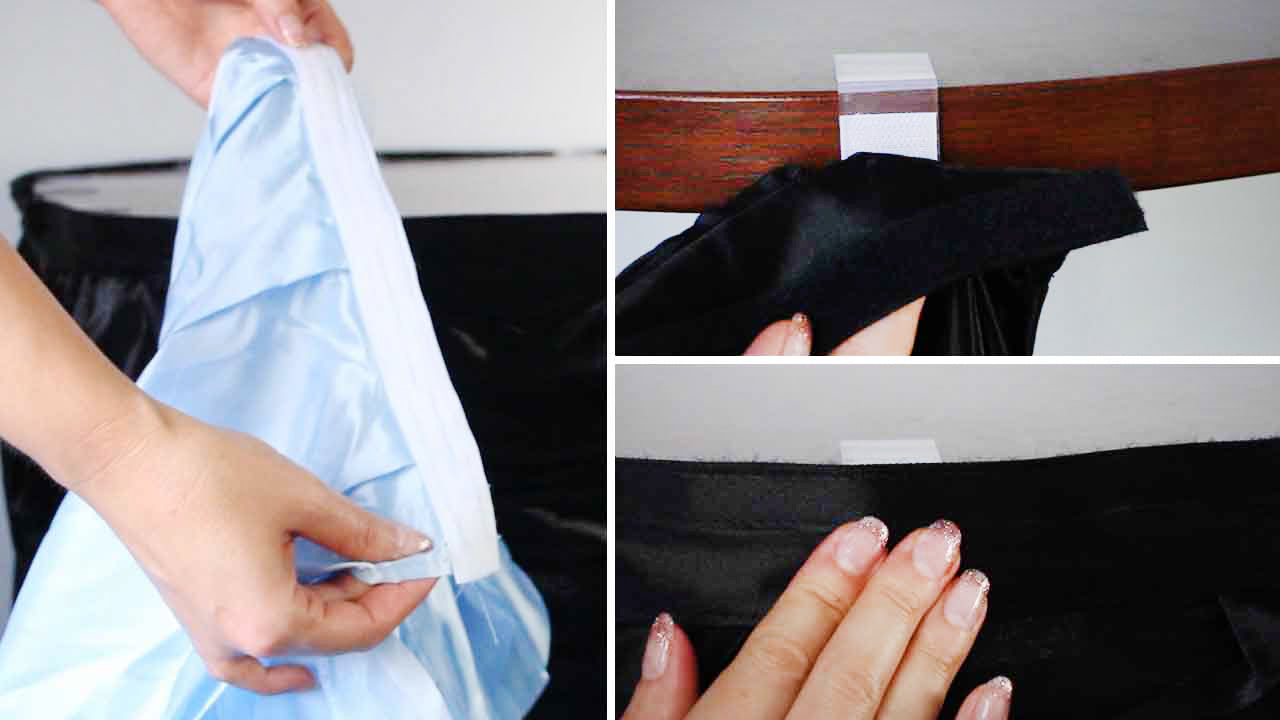 Table Skirts and Clips Sizing Guide Velcro Strips