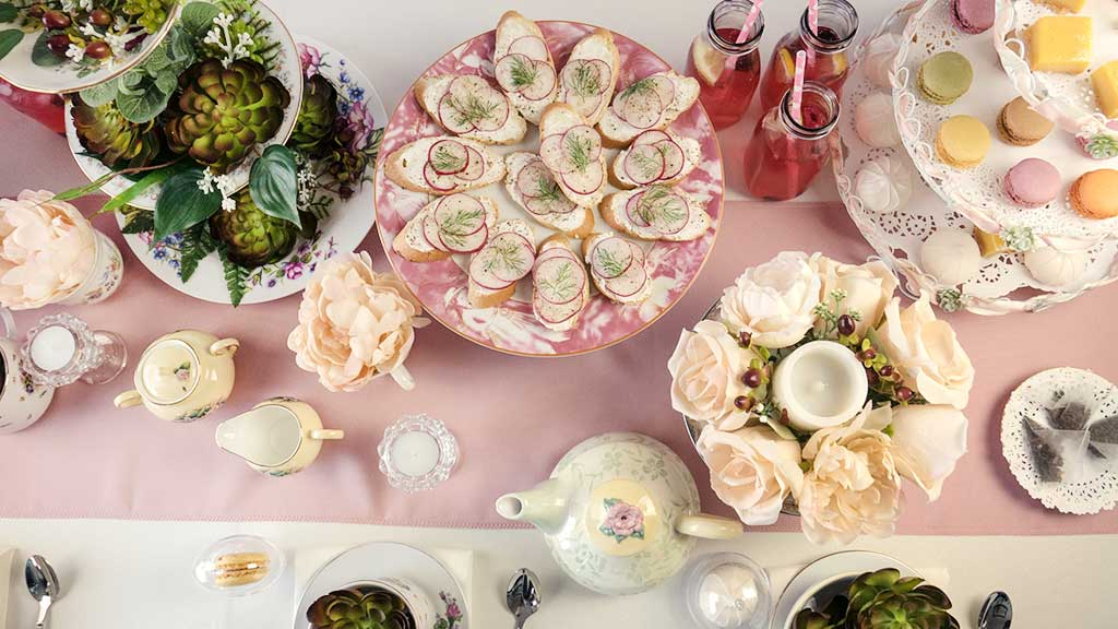 Bridal Shower Tea Party Centerpiece Ideas | BalsaCircle.com