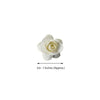 144 Ivory Paper Roses Mini Craft Flowers