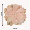 "2 24"" wide Blush Artificial Dahlia Flowers for Wall Backdrop"