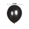 25 pcs Black 12 in Metallic Latex Balloons