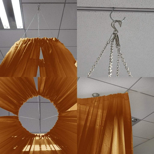 Gold 20 feet long Premium Sheer Voile Ceiling Draping Panel