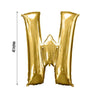 "Gold 40"" tall Letter W Aluminum Foil Balloon"