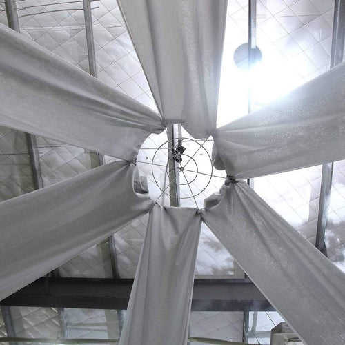 Silver 20 feet long Premium Sheer Voile Ceiling Draping Panel