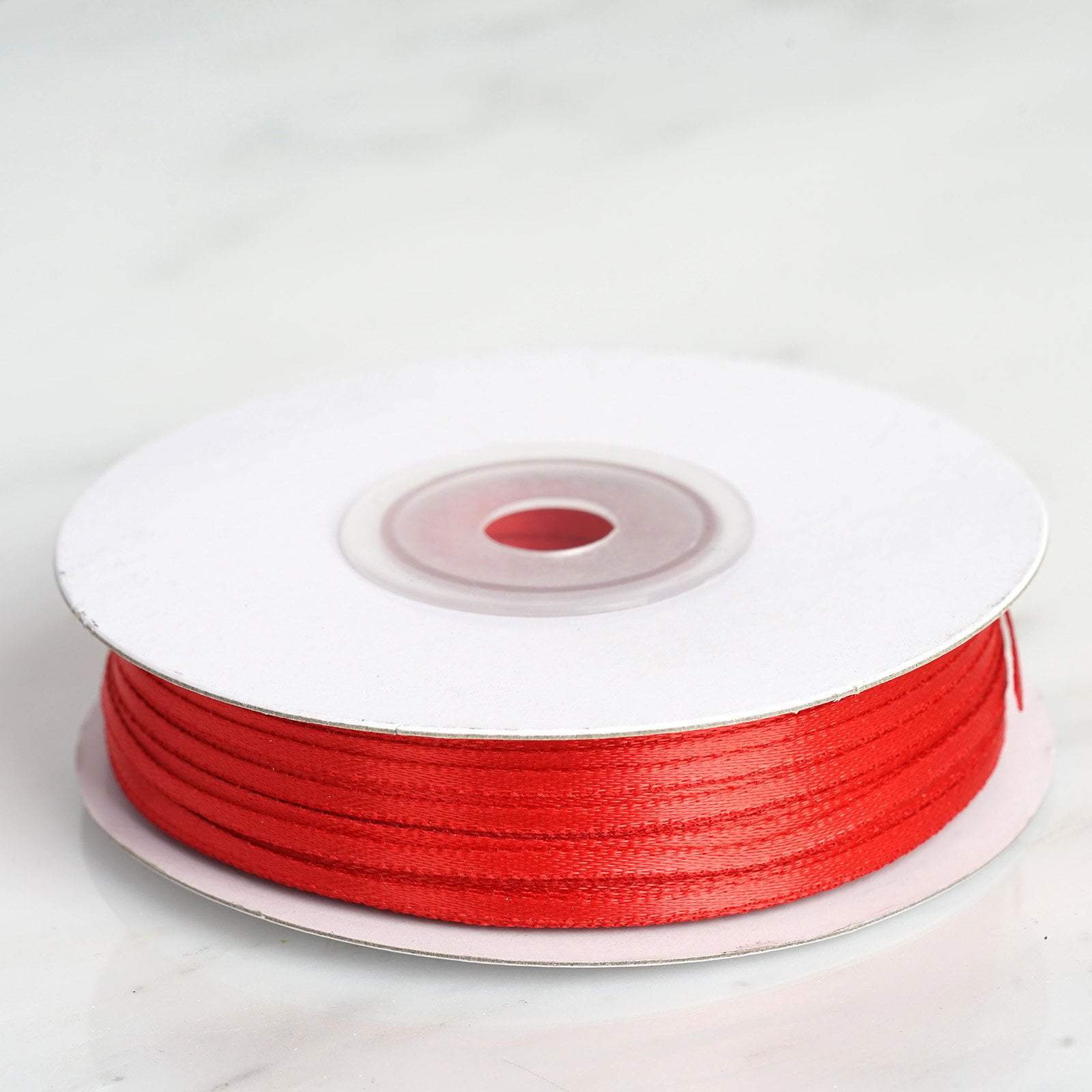 1/16 inch x 25 Yards Intricate Single Face Red Satin Ribbon