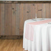 14x108 in Blush Organza Table Top Runner Wedding Party Linens