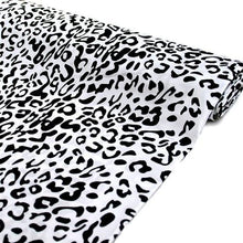 "54"" x 10 yards Black and White Leopard Safari Animal Print Fabric"