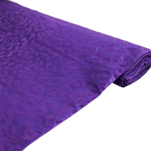 "54"" x 10 yards Purple Leopard Safari Animal Print Fabric"