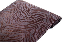 "54"" x 10 Yards Zebra Stripes Fabric Bolt - Chocolate on Chocolate"