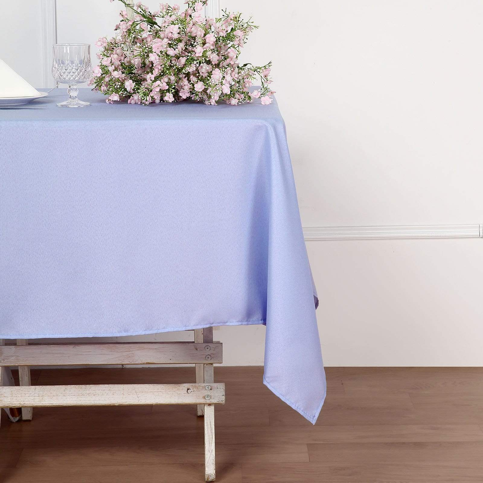 54 x 54 inch Lavender Square Polyester Tablecloth