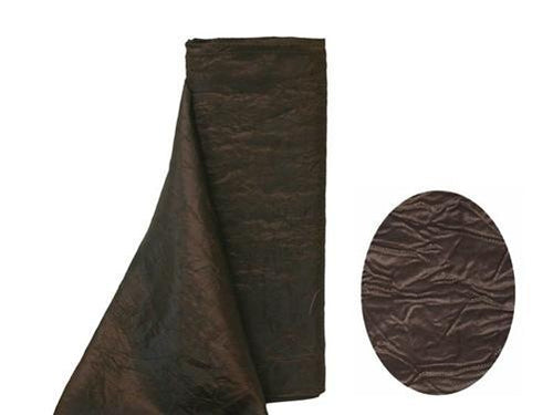 "Crinkle Taffeta Fabric 12"" x 10 Yards - Chocolate Brown"