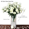 72 Ranunculus Silk Flowers - White