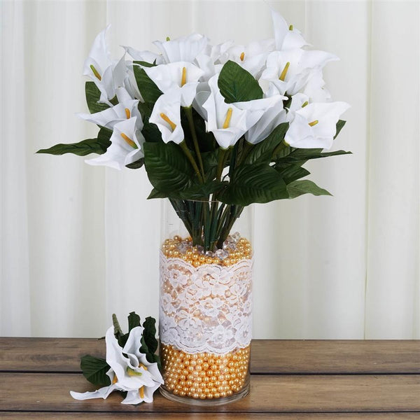 84 Calla Lily Silk Flowers - White