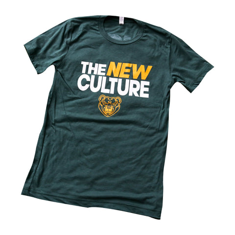 The New Culture Bear Tee - Green / White / Gold