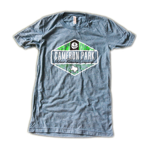 Cameron Park Trail Map Shirt - Blue Grey / Green