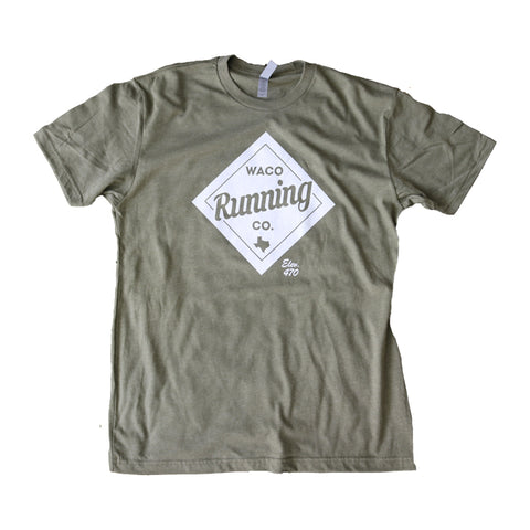 WRC Diamond Tee - Military Green / White