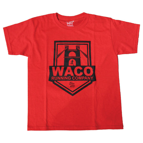 WRC YOUTH RED SHIELD LOGO SHIRT