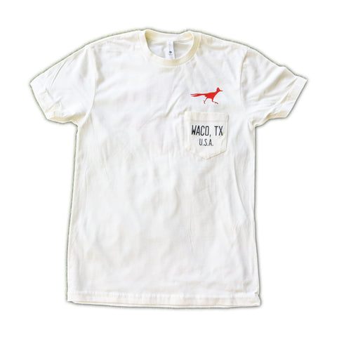 WRC Native Runner Pocket Tee - Oatmeal / Rust