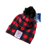 Boco Gear WRC POMPOM BEANIE - Red Flannel