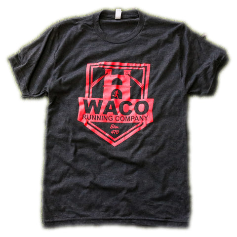 WRC BLACK AND RED SHIELD LOGO SHIRT